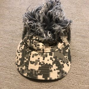 Flair hair visor hat camouflage military